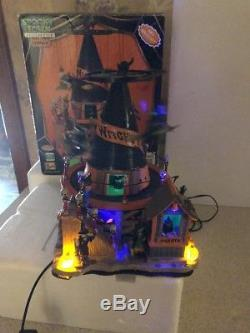 Rare Lemax Spooky Town Witch's Hat Complete works 84744 Halloween