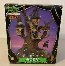 Rare Retired 2006 Lemax Spooky Town Halloween Witches Perch Lighted Table Accent