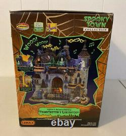 Retired 2007 Lemax Spooky Town Halloween Frankenstein Laboratory 75501 Animated