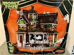 Retired Lemax Spooky Town Last House On The Left 35548 Halloween Animated