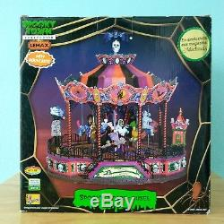 Retired Lemax Spooky Town Scare-ousel Halloween Carousel Animated Lights 74667