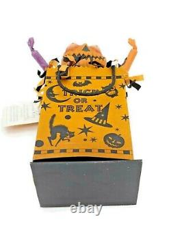 Rucus Studio Scott Smith Halloween Boogie Goodie Bag Orange Whimsical Folk Art