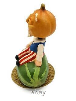 Rucus Studio Yankee Picnic Patriotic Holiday Bobble Head Pumpkin Scott Smith