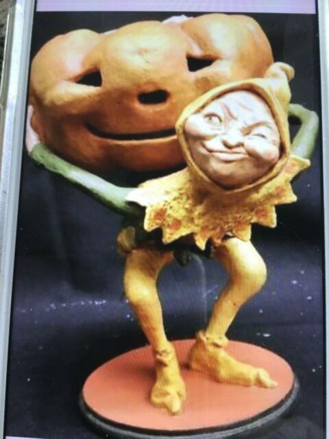 Rucus Studios Bethany Lowe For Scott Smith Pumpkin Goblin Candy Dish 2006