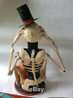 Rucus Stuido Retired Primitive Skeleton Sam candy box Bethany Lowe