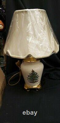 SANTA'S Bag Sale Spode Christmas Tree Electric Lamp with Shade. RETIRED MINT