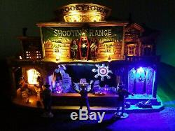 SHOOTING RANGE 2010 Lemax Spooky Town RETIRED -EXCELLENT Pre-owned Condition