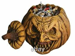 Scary Jack O Lantern Candy Bowl Halloween Evil Pumpkin Haunted Party Haunted New