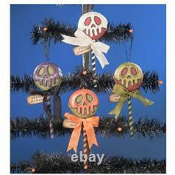 Set/4 5.25 Bethany Lowe Poison Treats Candy Vntg Style Halloween Ornament Decor