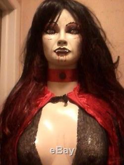 Sexy Vampire Vampira Lifesize Mannequin Halloween Prop Zombie Prop