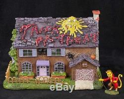 Simpsons Halloween Flanders House Haunted Hawthorne Village COA SEE VIDEO