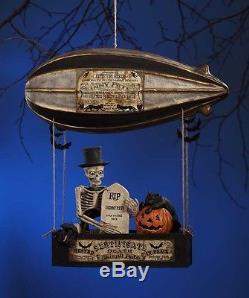 Skinny Petes Dirigible Halloween Skeleton Black Cat Balloon Bethany Lowe TD6027