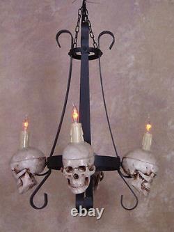 Skull Chandelier, Halloween Prop, Human Skull, New
