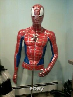 Spiderman Life Size Bust Ooak 11 3/4 Torso Superhero Prop Marvel Avengers