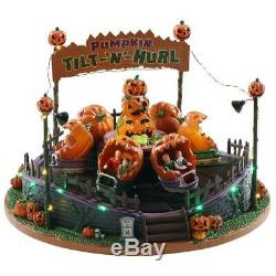 Spooky Town Halloween PUMPKIN TILT-N-HURL Signature Lemax Animated New Release