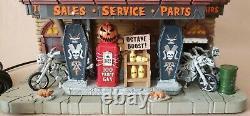 Spooky Town Reaper Motorcycle Biker Lemax Halloween Village 2018 Retired 75174