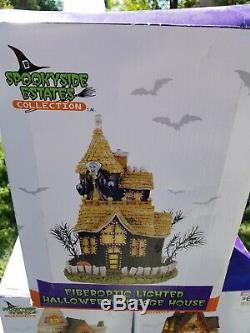 Spookyside Estates Collection Lot of (10)New Building Lighted and Sound