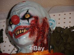 Standing Shorty Evil Clown Halloween Prop Decoration Latex Head Hands and Feet