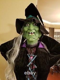 Super Rare Gemmy Life Size Heads Up Hilda Witch Halloween