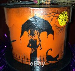 Take A Halloween Journey on this OOAK Hand Painted Box by Ellie, 2001, Fabulous