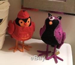 Target Eeek Bootique S/6 Birds In Halloween Costumes Super Rare Complete Set