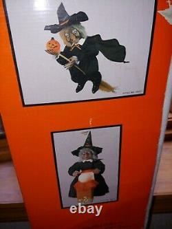 Telco animated flying Witch & lgt up pumpkin