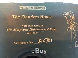 The Simpsons Halloween Flanders House Hawthorne Village #A0761 THOH COA
