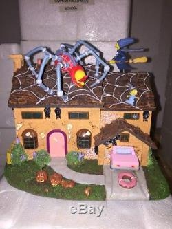 The Simpsons Halloween Village Hawthorne MIB Simpson's Family Home COA