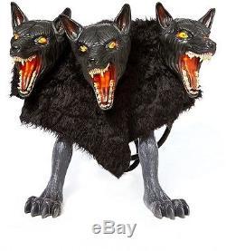 Three Headed Dog Cerberus Animatronic Hounds Of Hades Halloween Decoration Scary