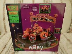 Tilt-N-Hurl Lemax Spooky Town Pumpkin Themed Carnival Ride New In Box