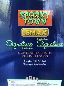 Tilt-N-Hurl Lemax Spooky Town Pumpkin Themed Carnival Ride New In Box
