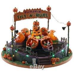 Tilt-N-Hurl Lemax Spooky Town Pumpkin Themed Carnival Ride Original Box