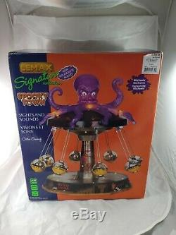 ULTRA RARE Lemax Spooky Town Retired 2011 Octo-Swing EXCELLENT