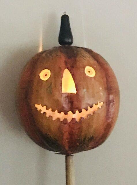 Vintage Early Halloween Jol Bethany Lowe Tin Parade Lantern Withpole Rare