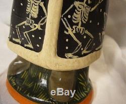 Vaillancourt Folk Art Halloween Santa Skeletons Personally Signed by Judi