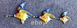 Vintage Beswick Style Ceramic Flying Ducks Wall Hanging