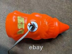 Vintage Empire Witch Holding Broom Halloween Blow Mold