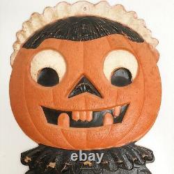 Vintage German Halloween Embossed Die-cut Easel 15 JOL Pumpkin Woman Black Cat