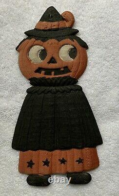 Vintage German Halloween die cut rare size and character