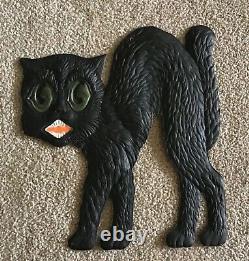 Vintage Halloween Black Cat German Die Cut