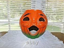 Vintage Paper Mache Jack-o-Lantern Pumpkin large Version Halloween Decor