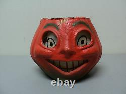 Vintage Papier Mache JACK-O-LANTERN, Pumpkin Candy Container