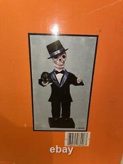 Vintage Telco Creations Halloween Tuxedo Skeleton With Cat