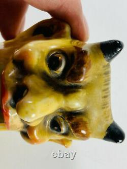 Vtg Antique Porcelain Devil Wagging Tongue Nodder Ashtray germany