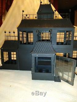 YANKEE CANDLE HAUNTED HALLOWEEN TIN HOUSE 2007 RARE 7 Tea Light Holder READ