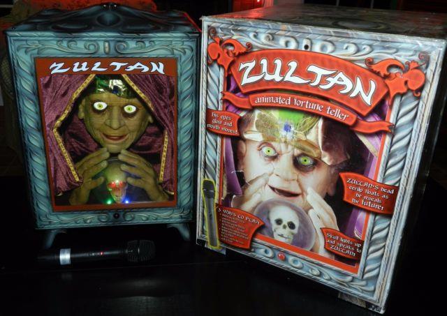 Zultan Animated Gemmy Animatronic Fortune Teller Talks, Eyes Glow, Mouth Moves